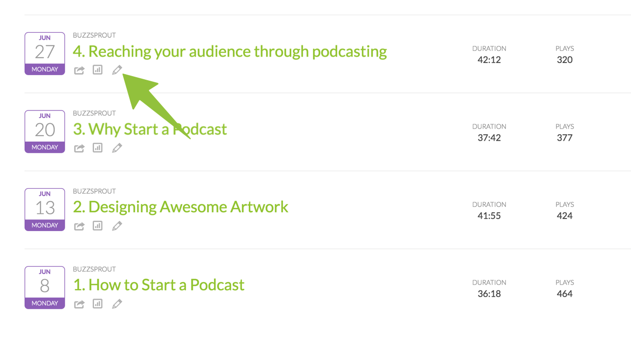 Change the order of podcast episodes in Apple Podcasts - Buzzsprout Help